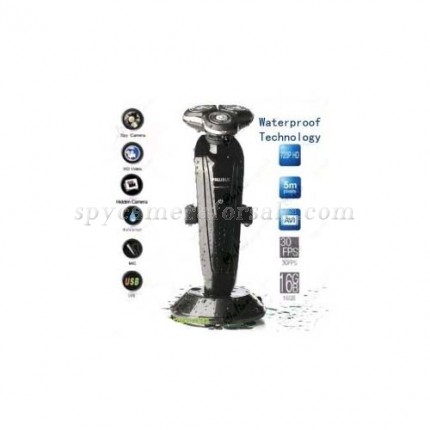 Shaver Spy Camera - 1280X720 HD Waterproof Technology  Shaver Spy Camera DVR For Bathroom with 16GB internal Memory