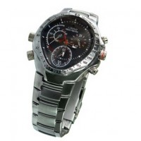 HD hidden Spy Watch Cam - 720P HD 1280x720 Waterproof Sport Watch DVR with 4G Memory Stainless Steel Casing Hidden Camera