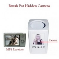 2.4GHz FM Wireless Hidden Camera Brush Pot Spy Camera With Portable Receiver