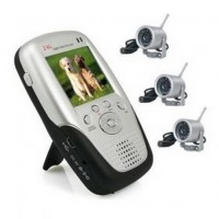 2.4GHZ Wireless Spy Camera - 2.4Ghz 2.5 Inch Four Channel MP4 Baby Monitor with 3x Night Vision Camera