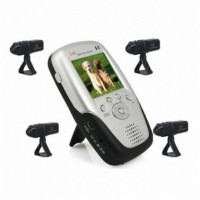 2.4GHZ Wireless Spy Camera - 2.4Ghz 2.5 Inch Four Channel MP4 Baby Monitor with 4x Rechargable Li-battery Camera