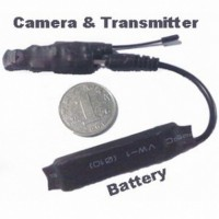 Professional wireless hidden Spy Camera - 2.4ghz Wireless Camera Transmitter The Samllest Camera in Size