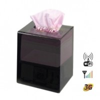 Toilet Tissue Box covert Camera - CCD 480TVL HR DVR Tissue Box Covert DVR Camera Supporting 32GB SD Card up to 64 Hours