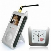 Wirless Clock Camera DVR with A/V receiver - Covert Wireless Spy Camera Alarm Clock with portable receiver
