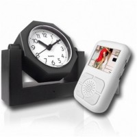 Wirless Clock Camera DVR with A/V receiver - Covert Wireless Spy Camera Alarm Clock with Receiver w/LCD