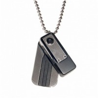 Necklace Camera Spy Camcoder Motion Detection 30 FPS 640x480 - Motion-Activated Necklace Style Mini Digital Video Recorder 2GB Memory included Hidden Camera