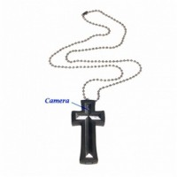 Cross with Necklace Mini Digital Video Recorder 4GB Memory included Hidden Camera - 8GB Cross with Necklace Mini Digital Video Recorder