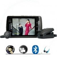 Wireless hidden Spy Cam - Bluetooth Spy DVR Clip-On Surveillance Set + Media Player