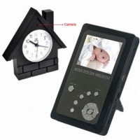 "Security Wireless Spy Camera - 2.4GHz Wireless Covert Spy Camera with Clock Apeerance & 2.5"" TFT LCD Receiver"