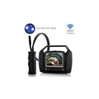 spy camera expert - Wireless Waterproof Inspection Camera with 3.5 Inch Color Monitor And DVR Function