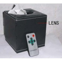 64 Hours Working Motion detection CMOS HR DVR Tissue Box Covert Camera AV OUT 32GB 1280X720 LCD Display