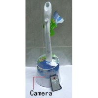Cheap Bathroom Spy Camera/Bathroom Spy Toilet Brush Camera DVR 16GB with Motion Activated And Remote Controller